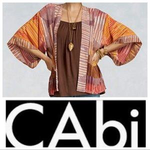 NWT CAbi Geo Stripe Kimono